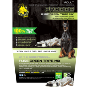 ProDog raw meat diet for dogs