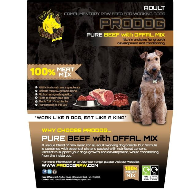 Pure Beef with Offal Raw Dog Food