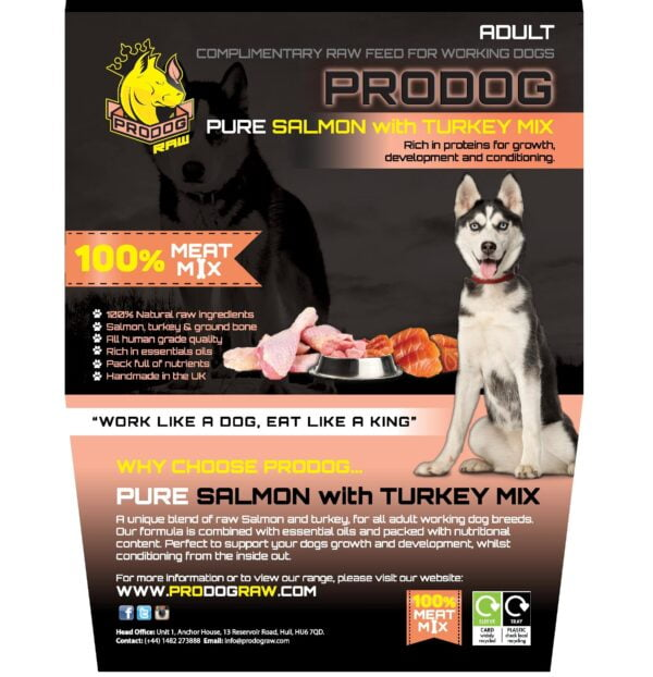 Pure Salmon with Turkey Raw Dog Food