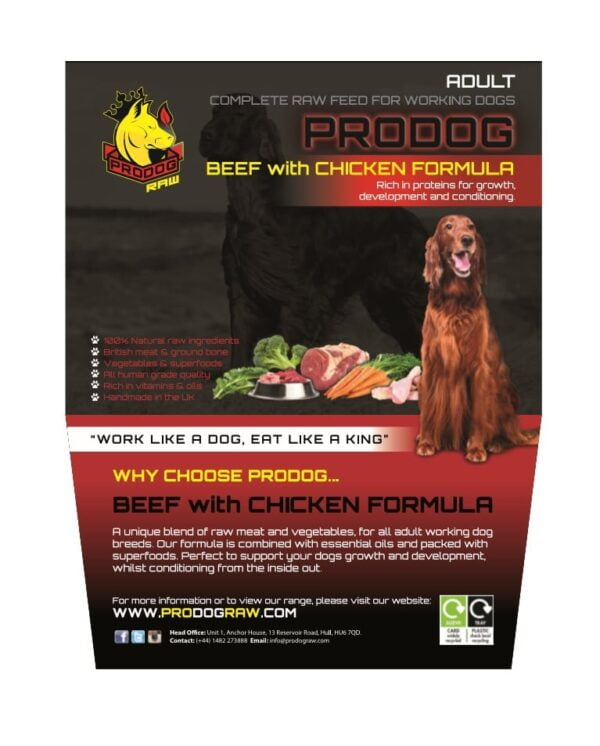 Beef with Chicken Raw Dog Food