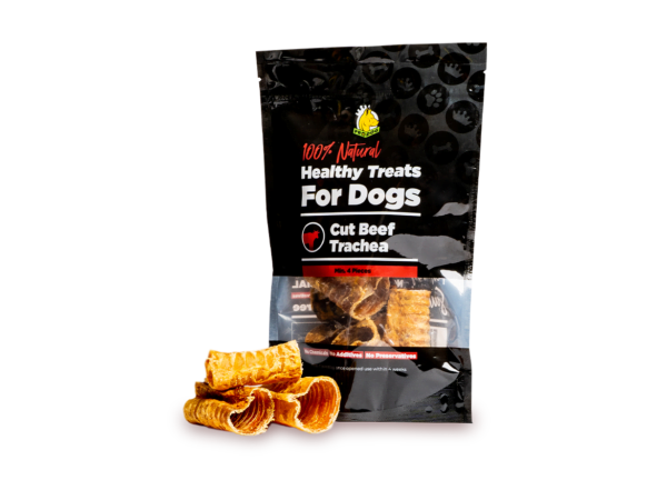 Cut Beef Trachea Pouch and Treat for Dogs