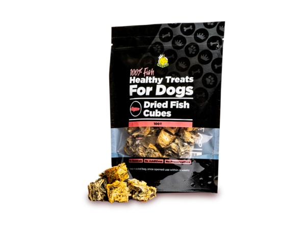 Dried Fish Cubes Treat for Dogs