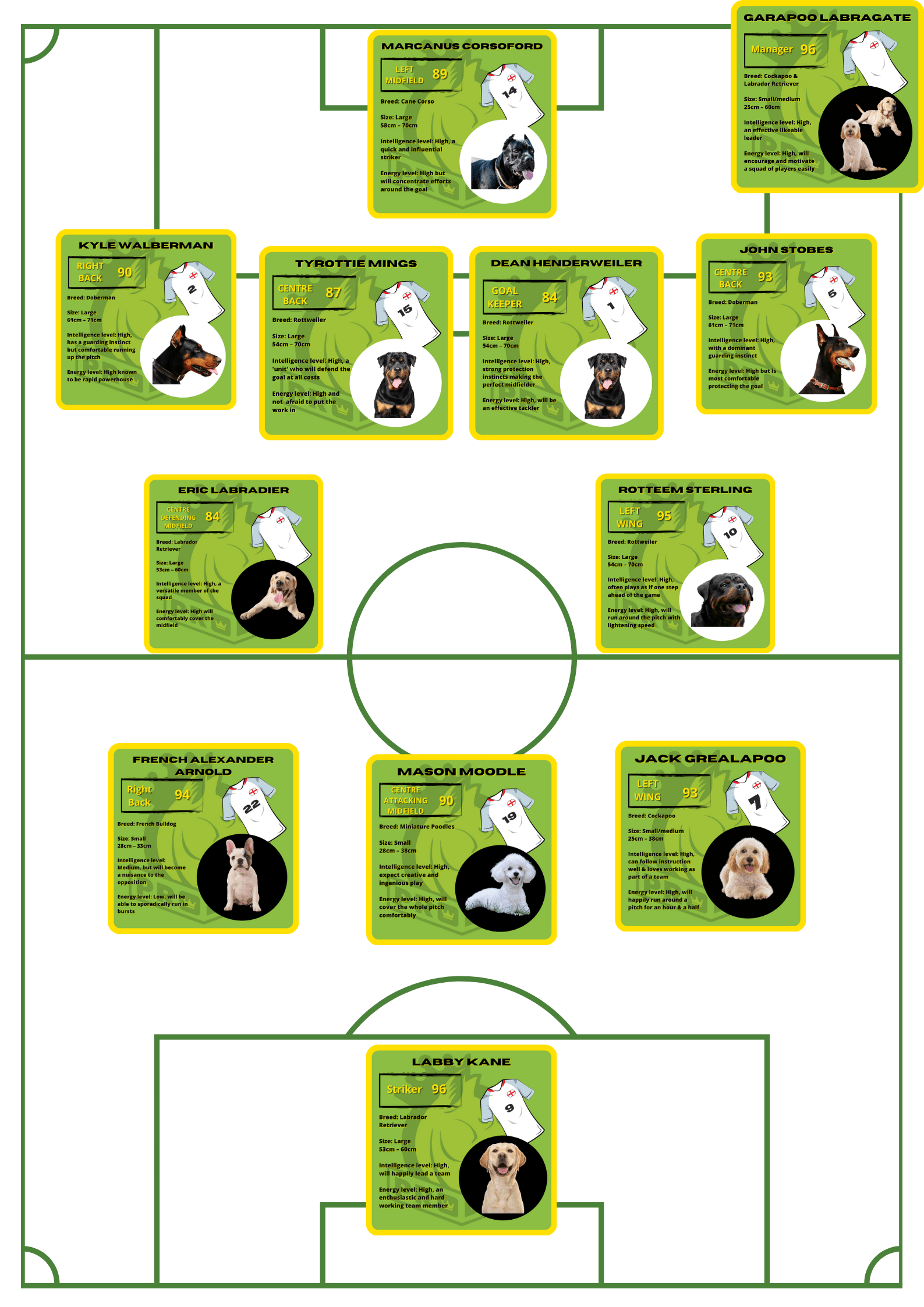 ProDog's England XI